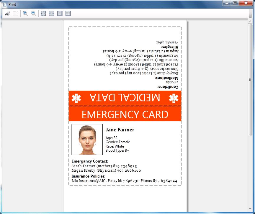 Printable Emergency Cards Suyhi Margarethaydon Com